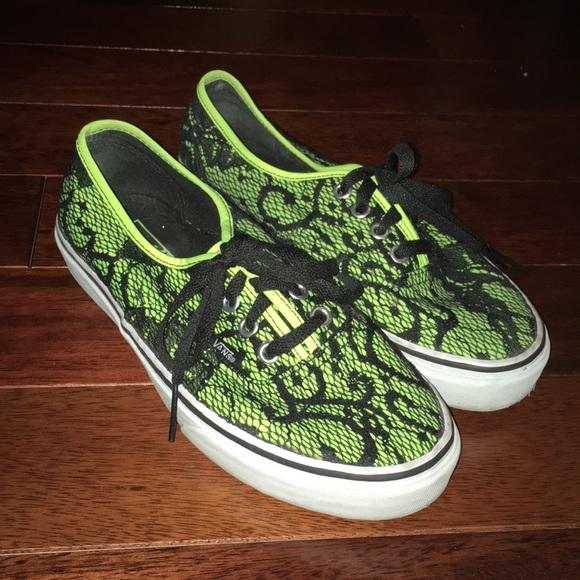 f30832306c3 Neon yellow lace Vans!!! M 5ae278cc8af1c5ea86a0265f